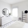 small bedroom organization ideas with white minimalism