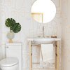 modern print bathroom wallpaper idea