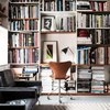 Home office and library in Sweden with books and Home Office Lighting Ideas