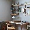 Desk Organization Ideas with Open shelving organizes a home office desk designed by Prospect Refuge Studio