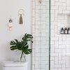 green plant minimal decor bathroom