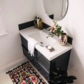 Small Powder Room? Go Bold on Color and Texture