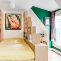Funky Shelving Turns This 194-Square-Foot Parisian Studio Into a Real Home