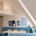 This Stockholm Loft Is for Lovers of Blue Cabinetry