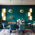 These 6 Green Dining Rooms Are Whipping Us Into a Feeding Frenzy