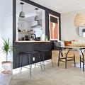Black Meets Boho in This Charming Kitchen Design