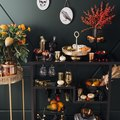 This Matte-Black-and-Gold Halloween Cocktail Party Is So Chic It's Scary