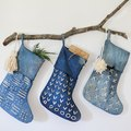 DIY Indigo Batik Stockings