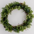 DIY Faux Evergreen Wreath (That You Can Reuse Every Christmas)