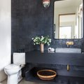 8 High-Impact Black Bathroom Countertop Ideas