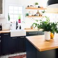 This Is How to Bring Warmth to a Black Kitchen