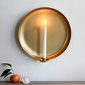 We Hacked a Target Serving Platter Into a Beautiful Brass Sconce
