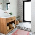 Floor-to-Ceiling Statement Tile Elevates a Stunning Bathroom