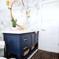 Sophisticated Hues Ground a Beautiful Bathroom Design