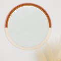 Easy DIY Tutorial: Boho Mirror Featuring Wood and Yarn