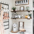 Just 7 Farmhouse Coffee Bar Ideas Guaranteed to Brighten Up Your Morning Routine