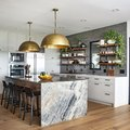 News Alert: Waterfall Countertops Are No Longer Just for Marble (Or Big Kitchens)