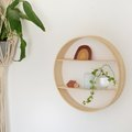 Modern DIY Circle Shelf Using Embroidery Hoops