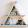 For a Small Bathroom or Entryway, We Present This DIY A-Frame Shelf