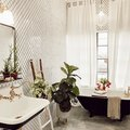 Black and White Is All the Color This Lively Bathroom Needs