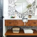 Lively Patterns Make for an Unforgettable Bathroom