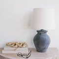 Cleverly Turn an Old Thrift Store Lamp Into a New Beauty Using These Surprising Materials