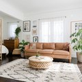 How to Stylishly Break Up a Studio Space Into a Living Room, Office, and Bedroom