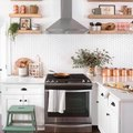 Copper Accents Add Homespun Glamour to This Charming Kitchen