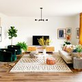Retro Meets Bohemian in This Cheery, Sun-Filled Living Room