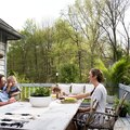 How This Midwestern Design Blogger Created The Perfect Outdoor Oasis For Entertaining