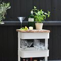 Turn a Popular IKEA Kitchen Cart Into a Swanky Outdoor Drinks Station
