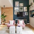 A Two-Toned Wall Makes for an Ultra Dynamic Design