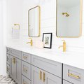 Gray and Brass Is a Killer Bathroom Combination