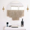 Add Boho Sparkle to Your Space with a DIY Fringed Mirror