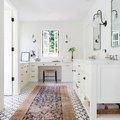 A Kilim Runner Completes a Stunning Bathroom Design
