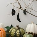 Halloween Moon-Shaped Ornaments That Are Cute and Easy to Make