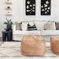 Black, White, and Beige Are All The Color This Gorgeous Living Room Needs