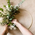 DIY Gold Hoop Wreath Featuring Eucalyptus