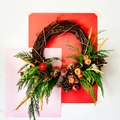 Earthy, Rich Hues Create This Beautiful DIY Autumnal Wreath