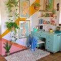 Caution: This Colorful Home Office Might Give You a Jolt of Energy