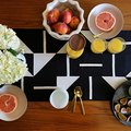 Create a Modern Geometric Table Runner With Our DIY Tutorial