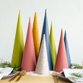 DIY Vibrant Christmas Tree Forest Centerpiece Using On-Trend Colors
