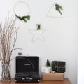 Modern DIY Holiday Wreaths Using Wire