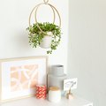DIY Scandi-Inspired Hanging Planter Using Embroidery Hoops