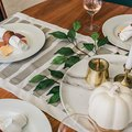 Using a Few Amazon Products You Can Easily Make This Striped Table Runner for Thanksgiving