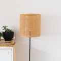 This DIY Lampshade Using Cane Material Is a Modern, Boho Beauty