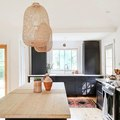 Warm Wood and Cool Black Makes for a Dynamic Kitchen Design