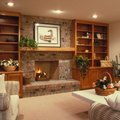 How to Build a Shelf in an Entertainment Center Over a Fireplace