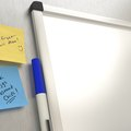 How to Attach a Dry Erase Board to a Refrigerator
