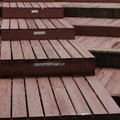 How to Build Wooden Steps Over Brick